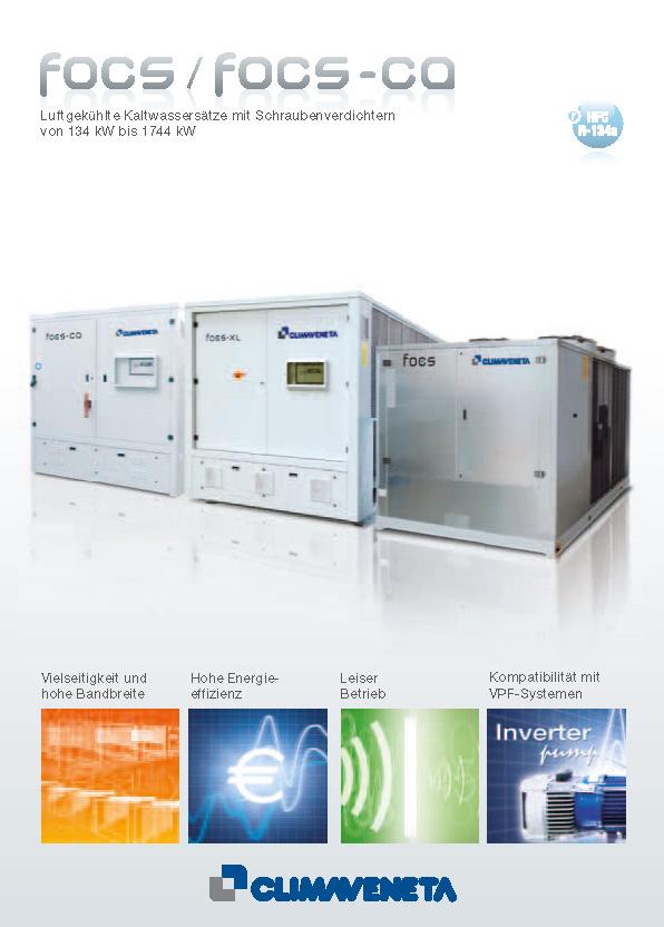 Luftgekühlte Kaltwassersätze mit Schraubenverdichtern von 134 kW bis 1744 kW