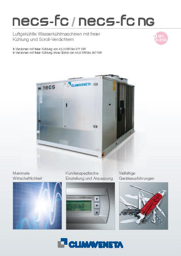 Luftgekühlte Wasserkühlmaschinen mit freier Kühlung und Scroll-Verdichtern