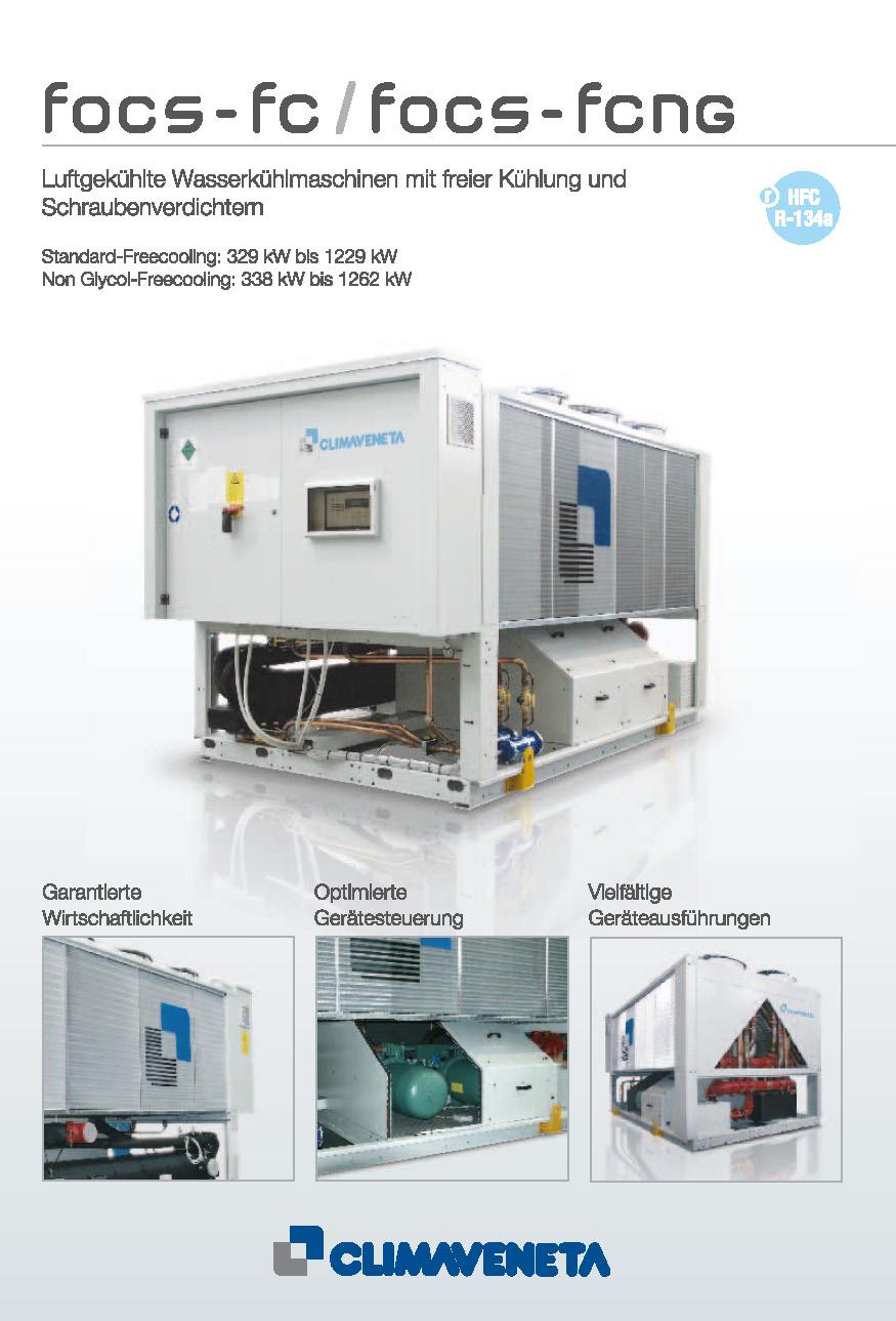 Luftgekühlte Wasserkühlmaschinen mit freier Kühlung und Schraubenverdichtern
