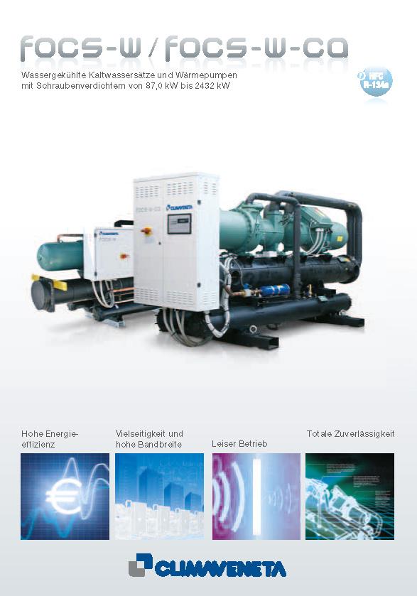 Wassergekühlte Kaltwassersätze und Wärmepumpen mit Schraubenverdichtern